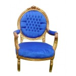 shabby-chic-chair-royal-blue-gold-frame